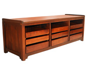 Kahoyan Bench with 3 Drawers