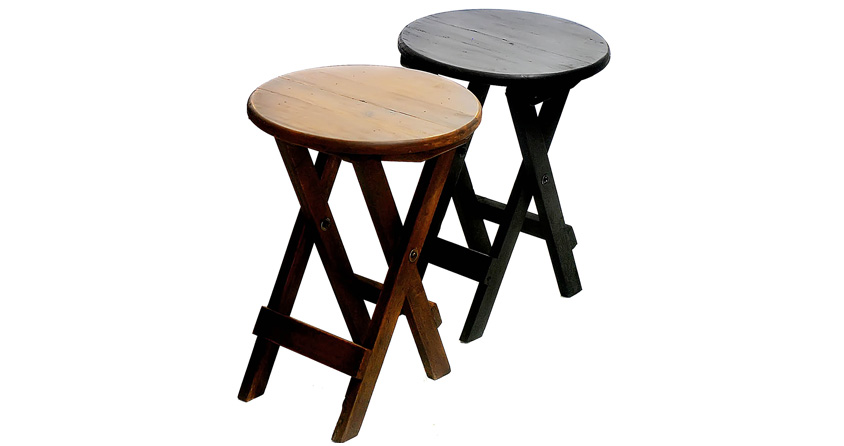 Round Folding Stool Kahoy An Furniture