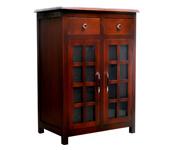 Kahoyan Cabinet 2 Doors Glass & 2 Drawers